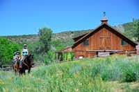Guests leave the barn for a trail ride at Smith Fork Ranch. (Michaela Urban/Special Contributor)