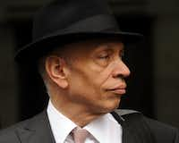 Author Walter Mosley at the funeral service of singer/actress Lena Horne in New York in May 2010. (Stephen Lovekin/Getty Images)