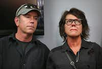 Mark Morris and Jonni Lee Hare, the parents of Christina Morris, attended a news conference where their daughter's remains were positively identified. (Rose Baca/Staff Photographer)