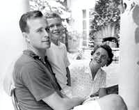 "George W. Bush (center), born in 1946, was the first of George H. W. and Barbara Bush's six children. Their second child, Pauline Robinson ""Robin"" Bush (1949-1953), died of leukemia."
