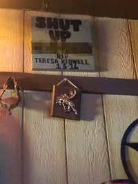 A sign at Jim's Rodeo Tavern in Fort Worth.(Owen McGrath)