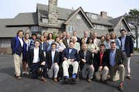 In this June 7, 2015 photo provided by the Office of George Bush, the Bush family posed for a photo at the family estate in Kennebunkport, Maine, to celebrate Barbara Bush's 90th birthday. (Evan Sisley via AP/Office of George Bush)