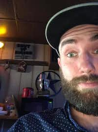 Jesse Bunting, owner of Jesse's 50/Fifty bar in Fort Worth, took a photo of a sign with a racial slur at another bar, Jim's Rodeo Tavern, on Monday.(Jesse Bunting)