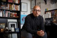 Shea Serrano at his office in Houston, Sept. 29, 2017. (<p>Michael Stravato </p>/<p>The New York Times</p>)