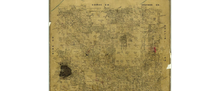 A map of Denton County, circa April 1877(University of North Texas, Portal to Texas History, crediting Texas General Land Office)