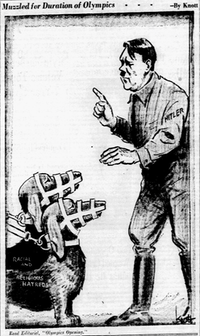 "<p><span style=""font-size: 1em; background-color: transparent;"">Cartoon featured in the April 4, 1936 edition of The Dallas Morning News.</span></p>(John Knott/The Dallas Morning News)"
