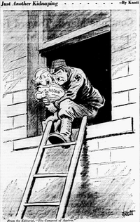 "<p><span style=""font-size: 1em; background-color: transparent;"">Cartoon featured in the March 13, 1938 edition of The Dallas Morning News.</span></p>(John Knott/The Dallas Morning News)"