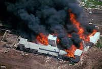 This aerial photo was used during a House Judiciary Committee hearing on Capitol Hill on the siege.(FBI)