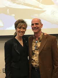 "<p><span style=""font-size: 1em; background-color: transparent;"">Tammie Jo and&nbsp; Dean Shults attended an alumni event for Tammie Jo's alma mater. They are both pilots for Southwest Airlines. (Courtesy of MidAmerica Nazarene University)</span></p>(<p></p>)"