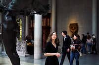 Madeline Miller in the Greek and Roman galleries at the Metropolitan Museum of Art in New York.(An Rong Xu/New York Times)