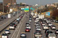 State leaders remain adamant that tolled lanes not be part of the plan to expand LBJ East. (David Woo/The Dallas Morning News)