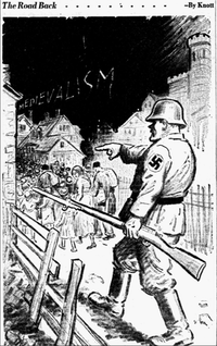"<p><span style=""font-size: 1em; background-color: transparent;"">Cartoon featured in the November 15, 1938 edition of The Dallas Morning News.</span></p>(John Knott/The Dallas Morning News)"