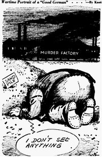 Cartoon featured in the May 6, 1945 edition of The Dallas Morning News.(John Knott/The Dallas Morning News)
