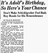 April 20, 1943(The Dallas Morning News)