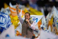 Presidential candidate Ricardo Anaya of the Forward for Mexico Coalition during a campaign rally in Tlalnepantla, Mexico State, Mexico, on Friday, April 20, 2018. Mexico will choose a new president on July 1.(Rebecca Blackwell/The Associated Press)