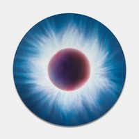 Marc Quinn's oil on canvas painting, <i>Solar Eclipse Northern Hemisphere August 11th 1999</i>, sold at the auction for $220,000.(Marc Quinn)