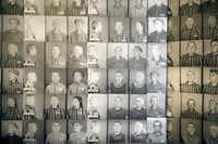 Photos of inmates on display at Auschwitz-Birkenau, the former concentration camp that is now a museum, in Oswiecim, Poland, April 10, 2015. A new survey found that many Americans lack basic knowledge of the Holocaust -- especially 18 to 34-year-olds, or so-called millenials. (JAMES HILL/NYT)