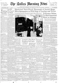 Front page of The Dallas Morning News on Nov. 11, 1938.(/)