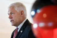 U.S. Rep. Pete Sessions, R-Dallas, spoke during the 100-year anniversary celebration of Dallas Love Field on Oct. 19, 2017.(David Woo/Staff Photographer)