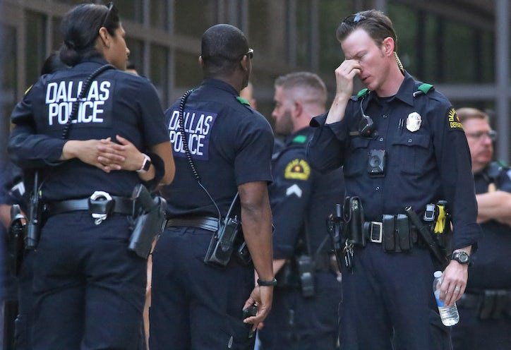 before home depot shooting dallas officers shared car full of