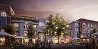 The next phase of the  Bishop Arts project will include apartments, retail and public space.(Exxir Capital)
