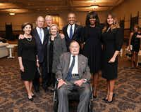 Attending the funeral of former first lady Barbara Bush last week were former President George H.W. Bush, former first lady Laura Bush, former President George W. Bush, former President Bill Clinton, former Secretary of State Hillary Clinton, former President Barack Obama, former first lady Michelle Obama and first lady Melania Trump.(Office of George H.W. Bush)