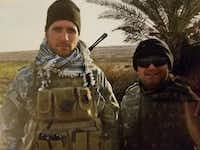 Terrence Kamauf (left) in Iraq in 2008, when he was a Green Beret.(Courtesy Terrence Kamauf)