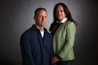 Bart Rogers and Lisa Mesa-Rogers met as volunteers in Dallas more than 20 years ago. (Rose Baca/Staff Photographer)