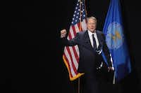 Wayne LaPierre,  executive vice president and CEO of the NRA, spoke at the Leadership Forum at the 146th NRA annual meeting in Atlanta on April 28, 2017.(Scott Olson/Getty Images)