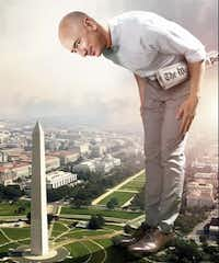 "Jeff Bezos and his Washington. D.C.. life is the cover story of the May 2018 Washingtonian magazine(<p><span style=""font-size: 1em; background-color: transparent;"">Photo-Illustration By C.J. Burton</span></p>/Washingtonian)"