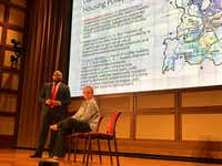 """<p><span style=""""font-size: 1em; background-color: transparent;"""">James Armstrong III, CEO of Builders of Hope CDC, and Meredith Richards, assistant professor of education policy and leadership at SMU, were among Friday's speakers. (Elvia Limon/The Dallas Morning News)</span></p>"""