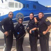 Officers Crystal Almeida and Rogelio Santander (both at right) were police academy classmates and best friends who happened to be assigned as partners in the northeast patrol division.(Senior Cpl. John Arnold)