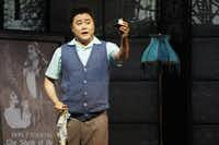 Ji-Min Park as Ernesto in a dress rehearsal for the Fort Worth Opera Festival's production of <i>Don Pasquale.</i>(Lawrence Jenkins/Special Contributor)