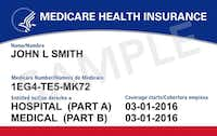 Sample of new Medicare card(Dept. of Health & Human Services/Medicare)