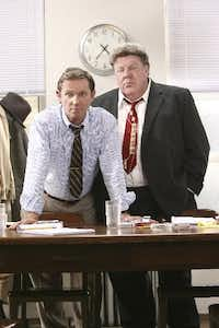 Richard Thomas (left) and George Wendt starred in national tour of <i>12 Angry Men</i> at the Majestic Theatre in Dallas in 2007.