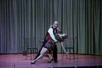 """Javier Abreu and Maren Weinberger perform Joe Illick's <i>Feel the Tango</i> during a dress rehearsal of the Fort Worth Opera Festival's """"Brief Encounters."""" (Lawrence Jenkins/Special Contributor)"""
