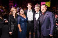Shown at the Cotes du Coeur gala are (from left) Terri Gallagher, Keli Jenkins, Greyson Gallagher, Tim Gallagher and Mike Jenkins. Tim, a heart transplant recipient, and his wife, Terri, chaired the event.(Scogin Mayo)