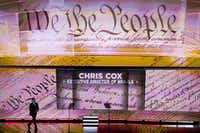 Chris Cox, executive director of the NRA Institute for Legislative Action, takes the stage to speak on the second day of the Republican National Convention on July 19, 2016, in Cleveland. The NRA holds its annual convention in Dallas this week.(Smiley N. Pool/Staff Photographer)