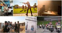 A collage of shots from NRA TV is featured on the website of Oklahoma-based Ackerman McQueen, the advertising agency that has crafted the public image of the National Rifle Association for decades.(Screenshot of Ackerman McQueen website/Ackerman McQueen)