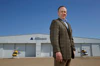 Tom Harris is president of Alliance Air/Aviation Services, which operates the Fort Worth-owned industrial-focused airport.(Nathan Hunsinger/Staff Photographer)