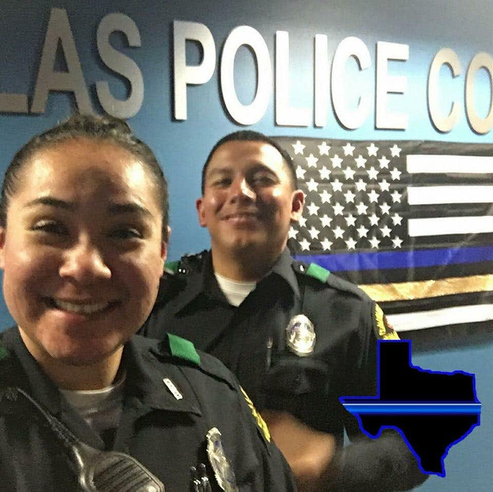 Dallas police Officers Crystal Almeida and Rogelio Santander were inseparable partners.(Courtesy)