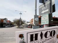 Various shops and restaurants along Pecan street in Hico.(Vernon Bryant/Staff Photographer)