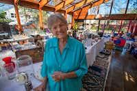 Harryette Ehrhardt on the sun porch of her home on Swiss Avenue.(Robert W. Hart/Special Contributor)