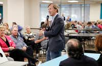 Democratic candidate for governor Andrew White speaks at a forum held for candidates for the 32nd Congressional District by the North Texas Democratic Jewish Council at Walnut Hill Recreation Center in Dallas on April 23, 2018. (Stewart F. House/Special Contributor)