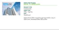 CBRE is advertising the AT&T tower for sale to investors on its marketing website.(CBRE)
