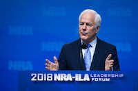 Texas Sen. John Cornyn addresses the NRA-ILA Leadership Forum at the Kay Bailey Hutchison Convention Center.(Smiley N. Pool/Staff Photographer)