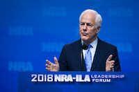Texas Sen. John Cornyn addresses the NRA-ILA Leadership Forum at the Kay Bailey Hutchison Convention Center.(Smiley N. Pool/Staff Photographer)