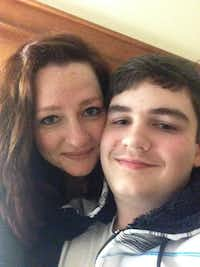 Jessica Cavanagh and her son, Elijah Wiggers. Their relationship is the inspiration for Cavanagh's play, <i>Self Injurious Behavior</i>, which debuts as a workshop production by Theatre Three in its Theatre Too space May 17-June 10.(Jessica Cavanagh)