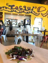 The Tako Taco comes with grilled octopus, cucumber, avocado, ponzu, green onion and cilantro.(Tiney Ricciardi/Staff)
