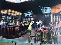 An artist rendition of Troy's, a new restaurant from former Dallas Cowboys quarterback Troy Aikman that was announced Tuesday during a media tour of Texas Live in Arlington.(Ron Baselice/Staff Photographer)